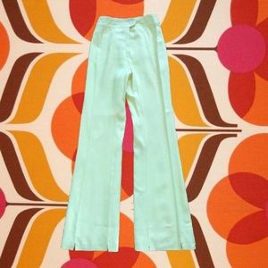 """Vintage 70s yellow high rise bell bottoms 24"""""""